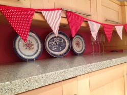 Swedish style Christmas bunting