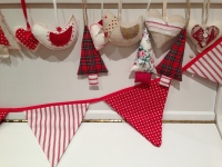 Tree decorations and bunting