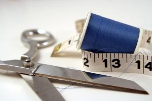 Scissors and tape measure