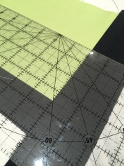 Use the quilter's rule to check the right angle
